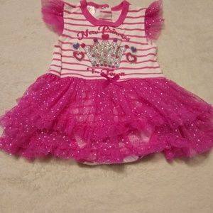 New princess in town onesie dress size 0-3 mos